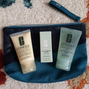 Clinique 3pc trial size lot w/ipsy bag